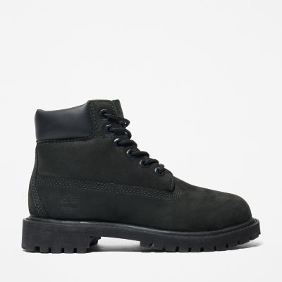 6+Inch+Premium+Boot+for+Youth+in+Black