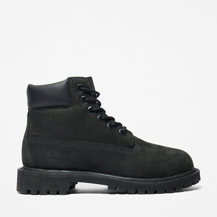 Premium 6 Inch Boot for Youth in Black-