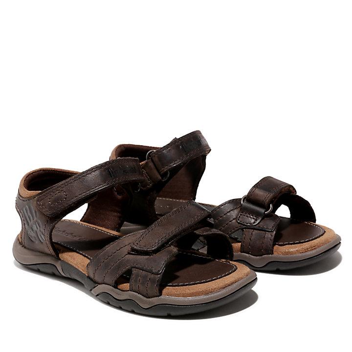 Sandalia de Tiras de Cuero Oak Bluffs para Niño (de 30,5 a 35) en marrón-