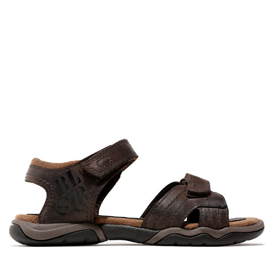 Oak Bluffs Strappy Leather Sandal for Youth in Brown | Timberland