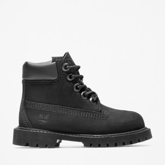 Premium 6 Inch Boot for Toddler in Black | Timberland
