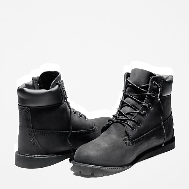 6 Inch Premium Boot for Junior in Black-