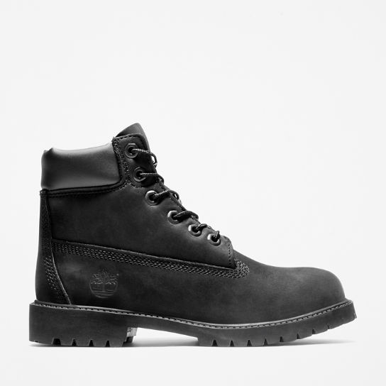 Premium 6 Inch Boot for Juniors in Black | Timberland