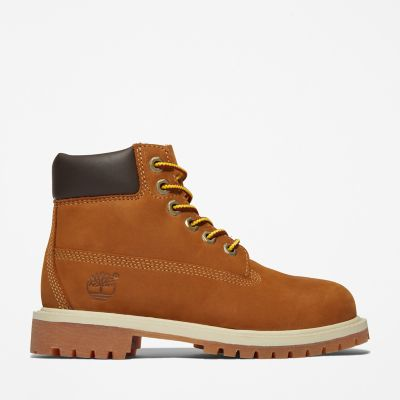 Premium+6+Inch+Boot+for+Youth+in+Brown