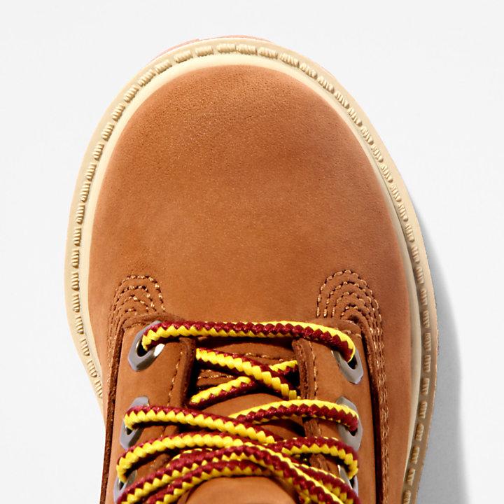Bota 6 Inch Premium para Niño (de 20 a 30) en marrón-