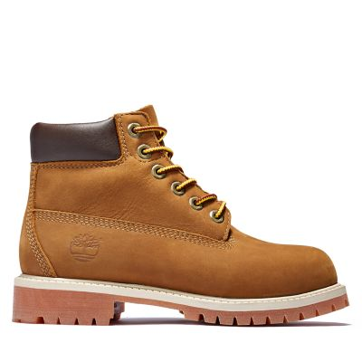 Premium+6+Inch+Boot+for+Junior+in+Brown