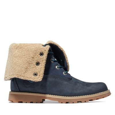Authentics+6+Inch+Faux+Shearling+Boot+voor+Juniors+in+marineblauw