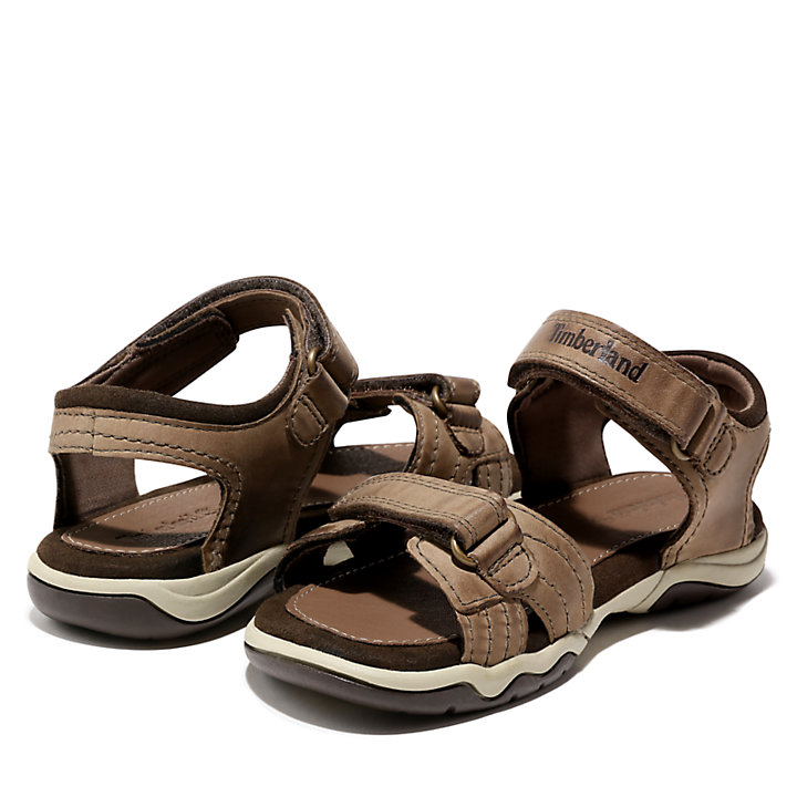 Oak Bluffs Strap Sandal for Junior in Brown-