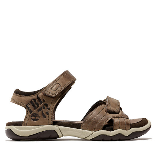Oak Bluffs Strap Sandal for Junior in Brown | Timberland