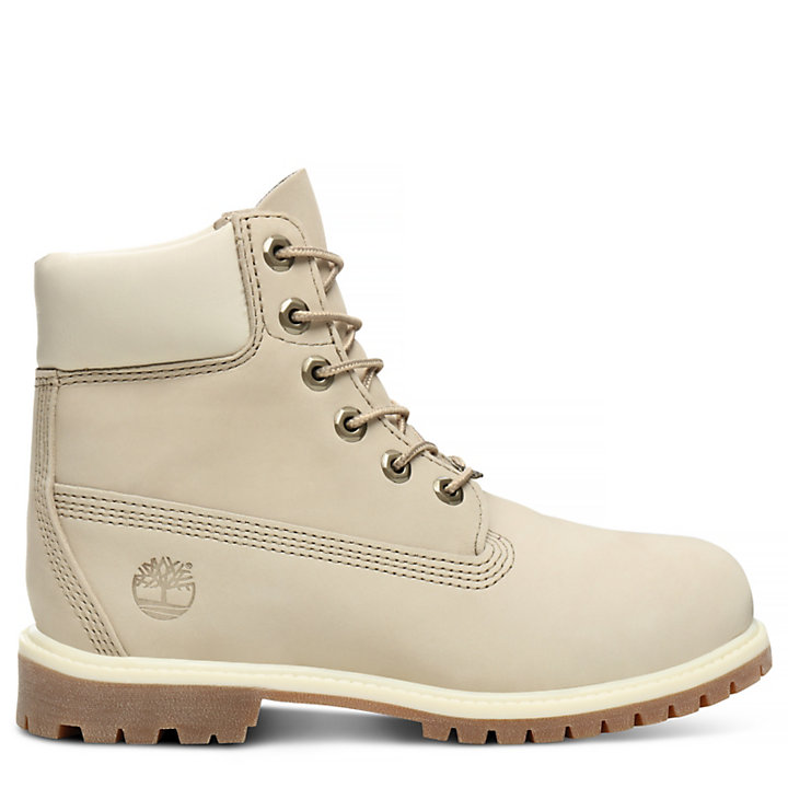 Premium 6 Inch Boot for Women in White-
