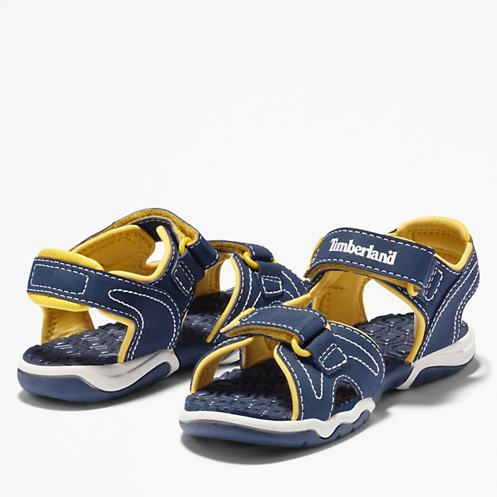 Adventure Seeker 2-Strap Sandal for Toddler in Navy/Yellow-