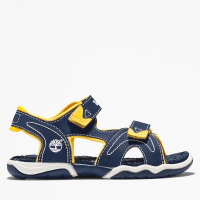 Adventure+Seeker+2-Strap+Sandal+for+Toddler+in+Navy%2FYellow
