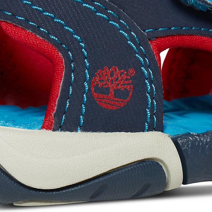 Adventure Seeker Sandaal met 2 Banden voor Peuters & Kleuters in marineblauw/rood-