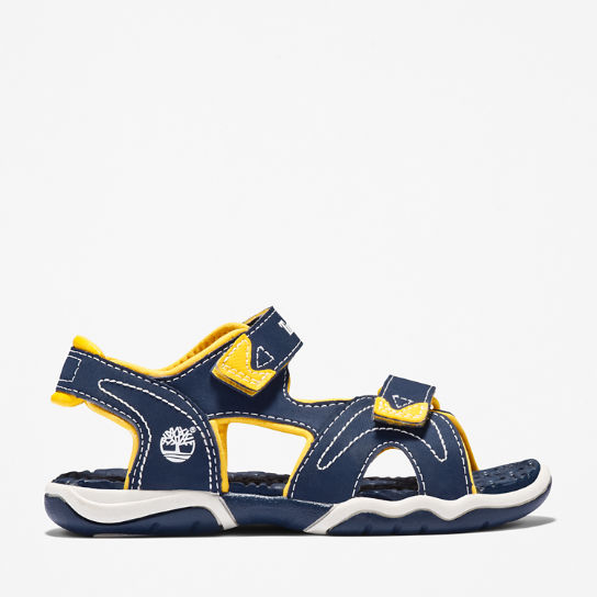 Adventure Seeker Sandal for Junior in Navy/Yellow | Timberland