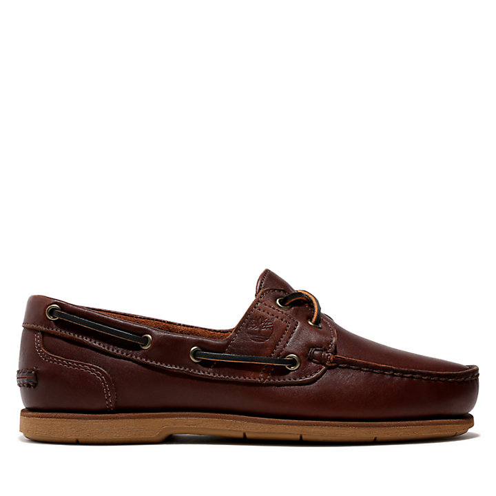 Classic Full Grain Boat Shoe for Men in Brown-