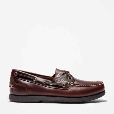 Classic+Full+Grain+Boat+Shoe+for+Men+in+Dark+Brown
