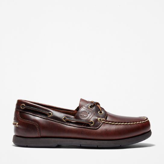 Classic 2-Eye Boat Shoe for Men in Brown | Timberland