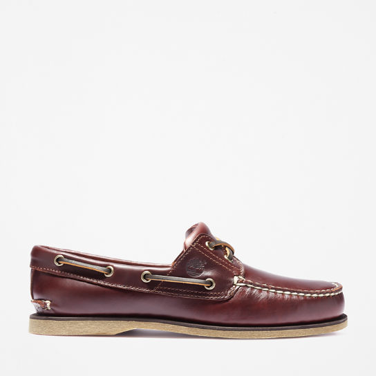 Classic 2-Eye Boat Shoe for Men in Mid Brown | Timberland