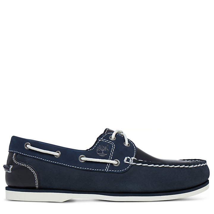 Classic Boat Shoe for Women in Navy-