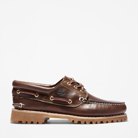 3-Eye Classic Lug Boat Shoe for Men in Brown | Timberland
