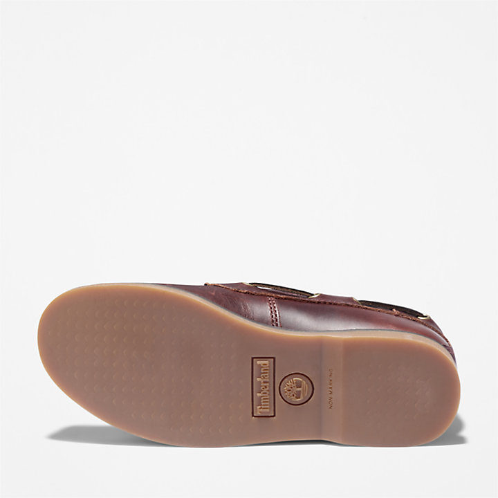 Seabury Boat Shoe for Youth in Brown-