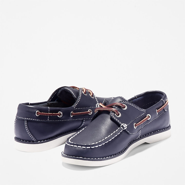 Seabury Boat Shoe for Toddler in Navy-