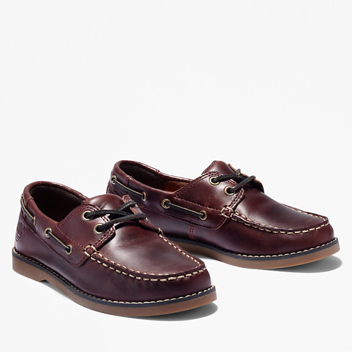 Seabury Boat Shoe for Toddler in Dark Brown-