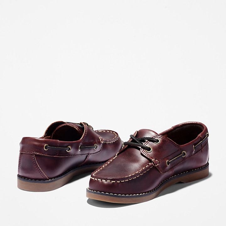 Seabury Boat Shoe for Junior in Brown-