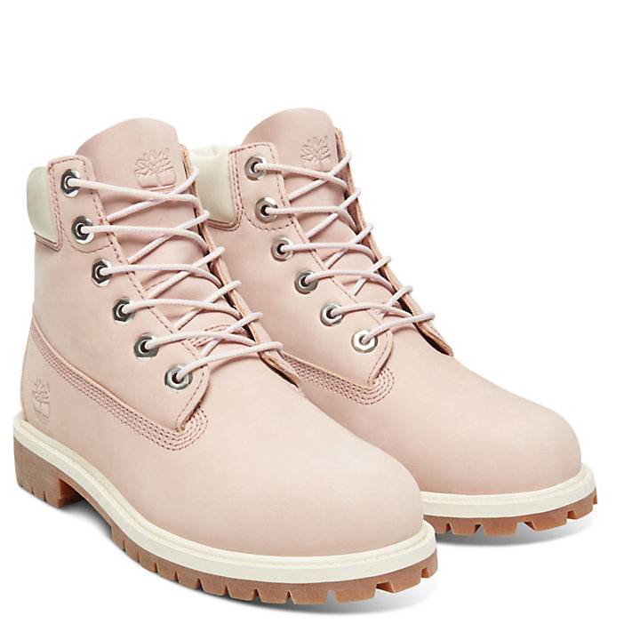 6-Inch Boot Premium junior en rose-
