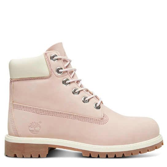 Premium 6 Inch Boot for Junior in Pink | Timberland