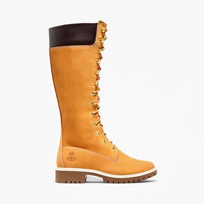 Premium+14+Inch+Boot+for+Women+in+Yellow