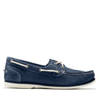 Classic+Unlined+Boat+Shoe+for+Women+in+Navy