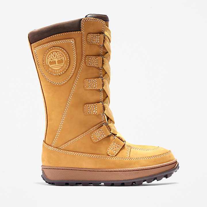 Mukluk 8 Inch Boot for Youth in Yellow-