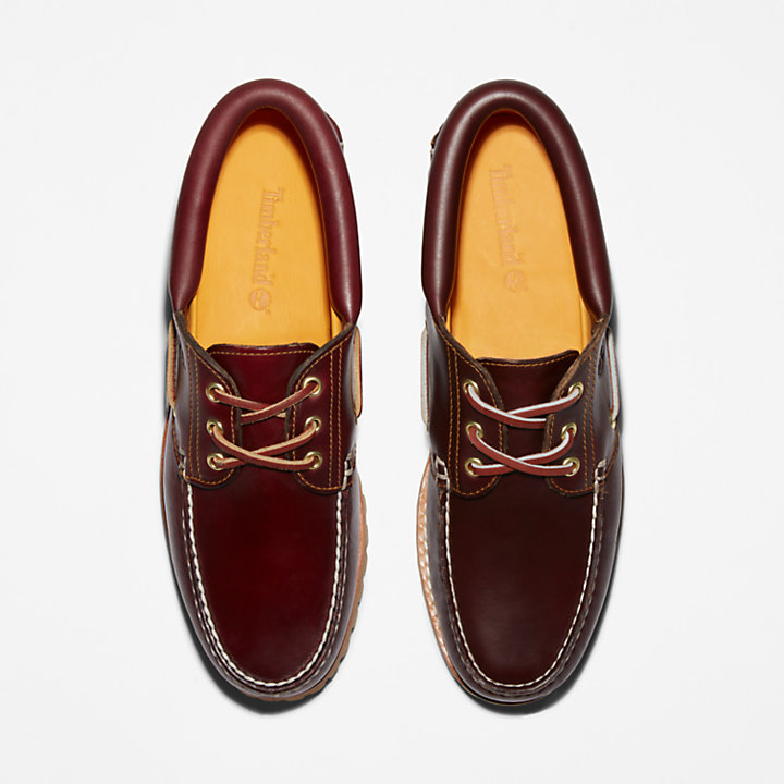Scarpa Barca Uomo Authentic 3-Eye in bordeaux-