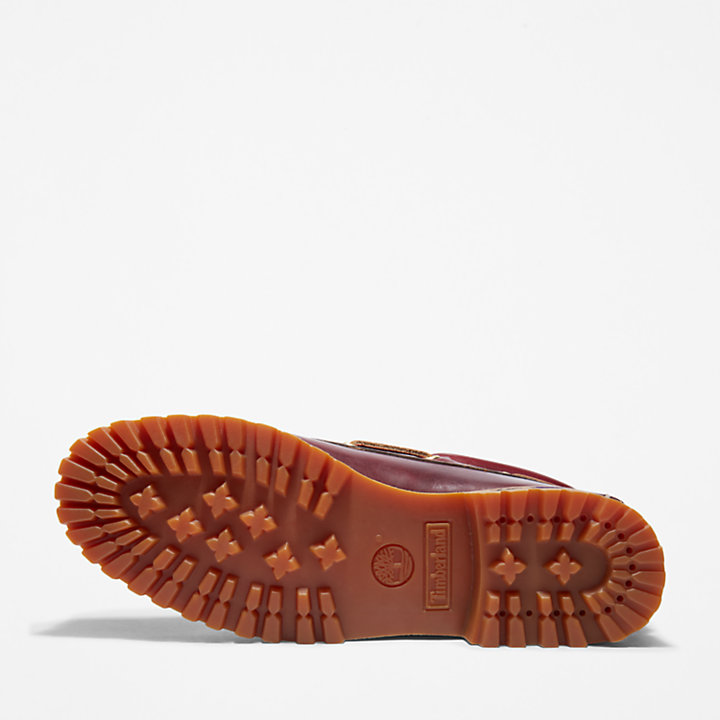 Authentic 3-Eye Classic Lug Boat Shoe for Men in Burgundy-