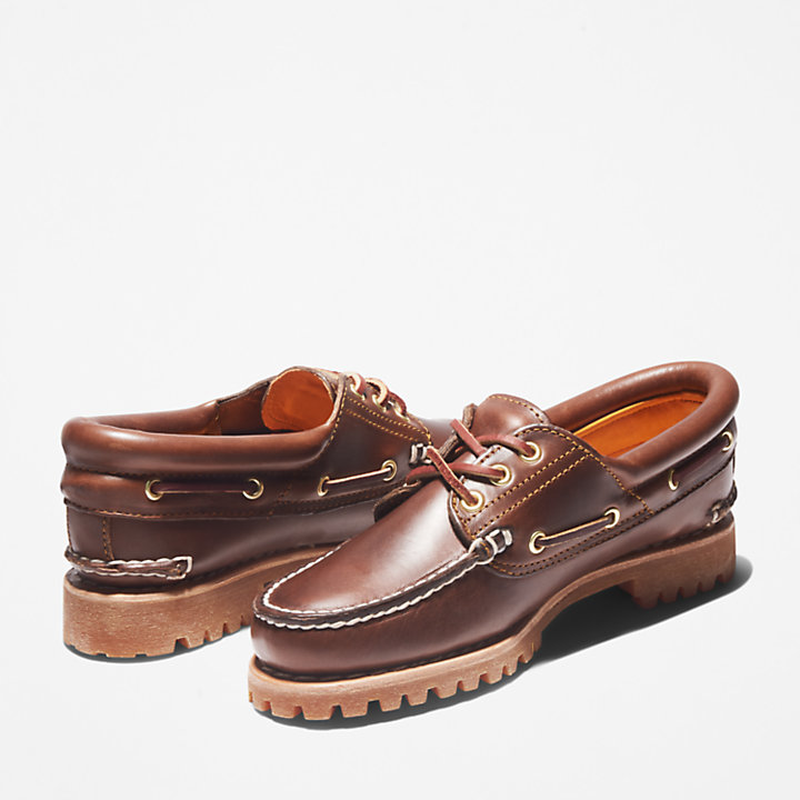 Noreen 3-Eye Boat Shoe for Women in Brown-