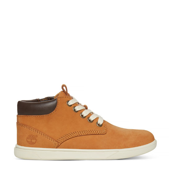 Groveton Leather Chukka Boot Kids Geel | Timberland