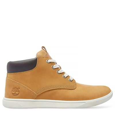 Junior+Groveton+Leather+Chukka+Gelb