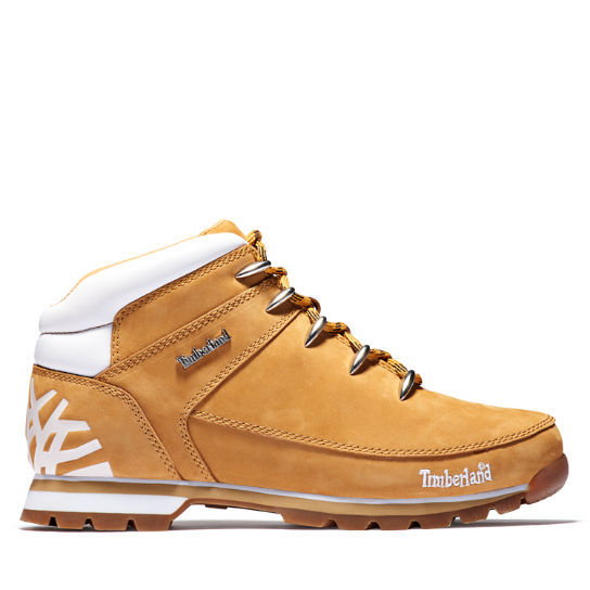 Euro Sprint Mid Hiker for Men in Yellow/White | Timberland