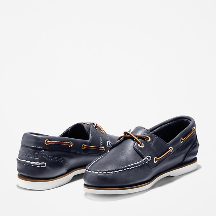 Classic 2-Eye Boat Shoe for Women in Navy-