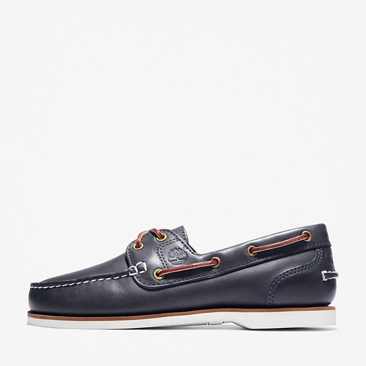 2-Eye Boat Shoe for Women in Navy-