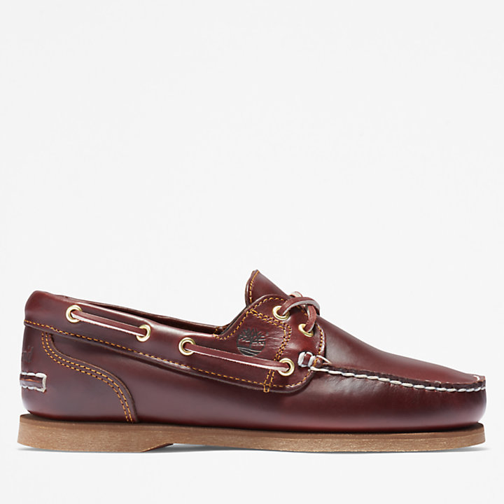 2-Eye Boat Shoe for Women in Brown-