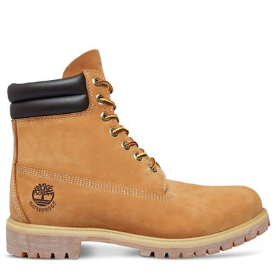 6+Inch+Double+Collar+Boot+voor+Heren+in+geel