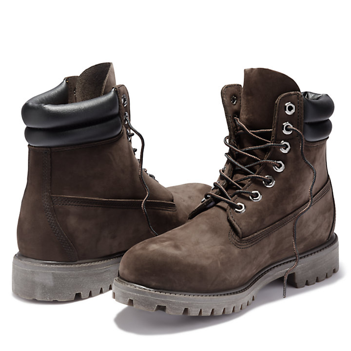 6 Inch Double Collar Boot for Men in Dark Brown-