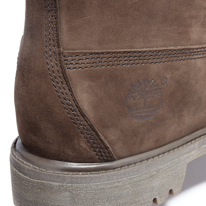 6 Inch Double Collar Boot voor Heren in donkerbruin-