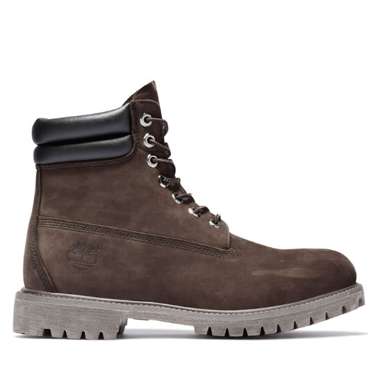 6 Inch Double Collar Boot voor Heren in donkerbruin | Timberland