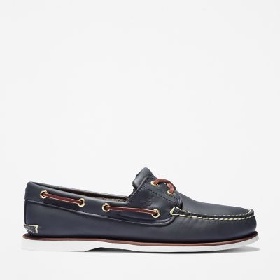 Classic+2-Eye+Boat+Shoe+for+Men+in+Navy