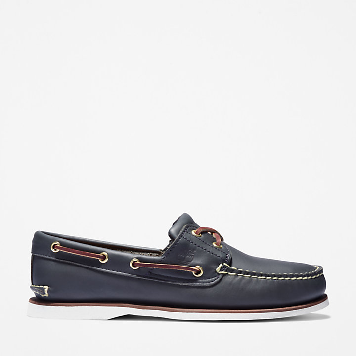 Classic Boat Shoe for Men in Blue-