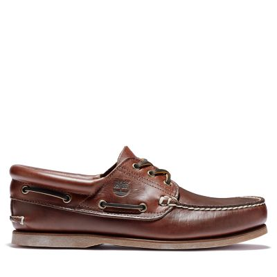 Padded+Collar+Boat+Shoe+for+Men+in+Brown