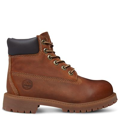 Authentics+6-Inch+Stiefel+f%C3%BCr+Kinder+in+Rostbraun